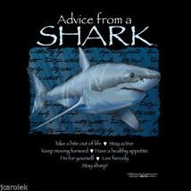 Sweatshirt Advice From a Shark S Nature NWT Black New Cotton Blend - $25.25