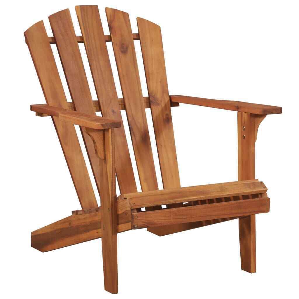 vidaXL Solid Acacia Wood Garden Adirondack Chair Furniture Patio Outdoor