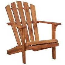 vidaXL Solid Acacia Wood Garden Adirondack Chair Furniture Patio Outdoor image 1