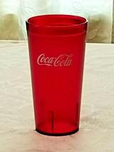 New (1) Coke Coca Cola Restaurant Texture Red Plastic Tumbler Cup 20 oz Carlisle - $10.88