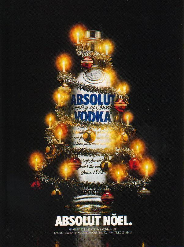 Primary image for ABSOLUT NÖEL Vodka Magazine Ad SPELLING ERROR