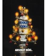 ABSOLUT NÖEL Vodka Magazine Ad SPELLING ERROR - $9.99