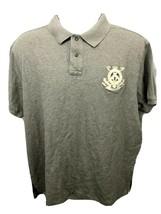 Polo Ralph Lauren Crest Logo Gray Polo Shirt Custom Fit - Size XXL - $12.64