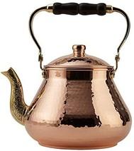 DEMMEX 2019 Heavy Gauge 1mm Thick Natural Handmade Turkish Copper Tea Po... - $95.79