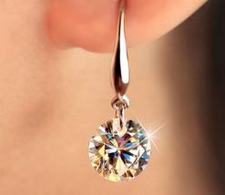 High-grade Sterling Silver Earrings Hoop Earrings Loose Diamonds - $15.40