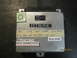 1985 85 SAAB 900 TURBO ECU/ECM #0 280 000 515/75 25 595/ 0280000515 (box... - $118.79