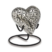 Small/Keepsake 3 Cubic Inches  Brass Heart  Funeral Cremation Urn for Ashes - $74.99