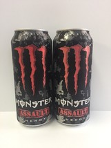 Monster Energy Drink Assault 16oz Cans.2(TWO) Total Cans. - $8.99