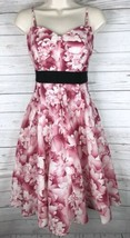Anthropologie Maeve Savoy Flora Dress Women's 6 Pink White Strapless Cotton - $59.49