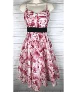 Anthropologie Maeve Savoy Flora Dress Women's 6 Pink White Strapless Cotton - $59.49