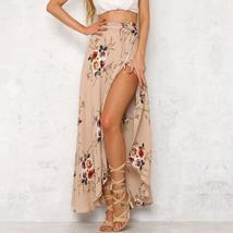 Womens Bohemia Floral Waist Summer Beach Wrap Cover Up Maxi Skirt - $42.88