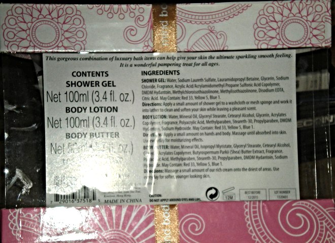 Shower Set - Mind, Body and Soul