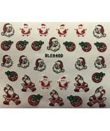 BANG STORE Nail Art 3D Glitter Decal Stickers Christmas Santa Wreath Hol... - $3.68