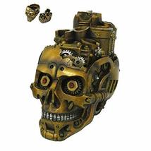 Pacific Giftware PT Steampunk Skull Holder Box Container Home Tabletop Decorativ - $34.99