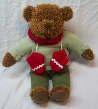 """Hallmark HOLIDAY TEDDY Red MITTENS TEDDY BEAR 13"""" Plush STUFFED ANIMAL Toy - $19.80"""
