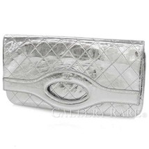 CHANEL Pouch 31 Goat Leather Silver A70521 Clutch Bag Metalic Authentic ... - $2,173.74