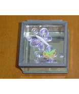Jewelry Box Handcrafted Butterfly & Flower Paper Quill on Glass - $29.99