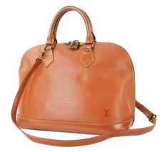 Auth LOUIS VUITTON Alma Brown Epi Leather 2-Way Hand Bag #32781B - $329.00
