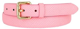 Skinny Women's Snakeskin Embossed Leather Casual Dress Fashion Belt (Pink, Me... - $6.92