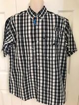 New Columbia Men's Pfg Super Bonehead Classic Short Sleeve Shirt, Black Multi - $33.90