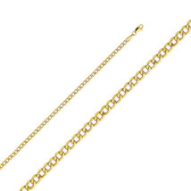 14K Yellow Gold Italy Hollow Cuban Curb Chain 2... - $76.67 - $532.47