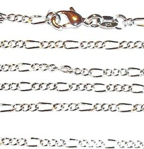 "CN413 Silver Figaro Link Sterling Plate 24"" Chain Necklace with Lobster ... - $9.30"