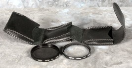 Lot of 2 Hoya 49mm Glass Lens Filters with case - $9.89