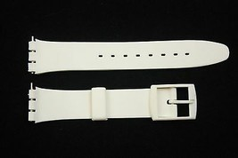 12mm Ladies White Soft PVC Replacement Band Strap fits SWATCH watches - $8.34