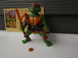 1988 Vintage Playmates Raphael TMNT Teenage Mutant Ninja Turtles Action ... - $43.67