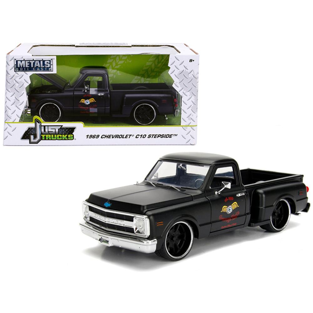 1969 Chevrolet C10 Stepside Pickup Truck Matt Black Garage Nuts Just Trucks Seri