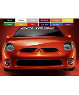 "Eclipse Windshield Banner 4"" X 40"" Decal Sticker Choose Color ! Buy Now ! ! - $13.97"