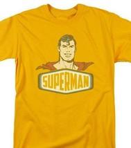 Superman T-shirt DC comic book Batman superhero retro cotton gold tee DCO629 image 1