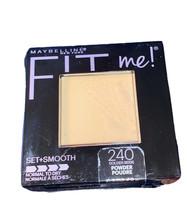 Maybelline Fit Me Set Powder Pressed Shade #240 Golden Beige Normal to D... - $6.64