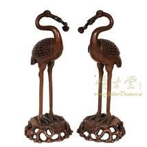 Chinese Antique Carved Bronze Crane Incense Burner 18LP91 - $639.00