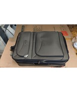 Leisure intl olive green w. black trim Expandable Rolling  25x17x9 Suitcase - $74.24