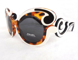PRADA Women's Sunglasses PR-23NS Havana/Ivory Minimal Baroque MADE IN IT... - $235.00