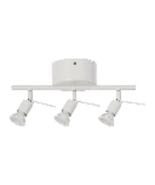 IKEA Tross, White Ceiling Track , 3 spotlights, Led Bulb GU10 (not inclu... - $22.76
