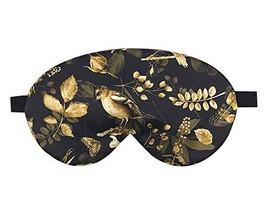 Double Sided Silk Eye Mask Elegant Eyeshade Sleep Eye Mask with Adjustable Strap