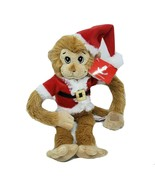 "15"" AURORA SANTA MONKEY CHRISTMAS STUFFED ANIMAL PLUSH TOY W/ TAG # 38988-2 - $42.08"