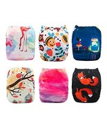 Babygoal Baby Cloth Pocket Diapers for Girls, Reusable 6pcs Nappies + 6p... - $35.82