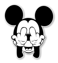 Mickey Finger Precision Cut Decal - $3.46+