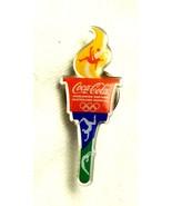 Lapel Cap Hat Pin Coca Cola 2016 Olympics Rio de Janeiro Torch No Pkg - $3.05