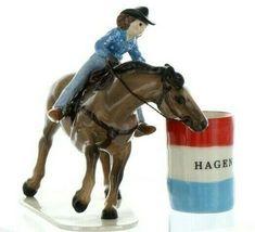 Hagen Renaker Specialty Horse Rodeo Barrel Racer Ceramic Figurine image 7