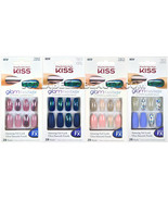 Kiss Glam Fantasy Nails Special FX Press-on Nails Smooth Long Shine Glit... - $7.95