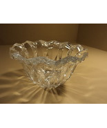 Designer Round Crystal Bowl 10in Diameter x 6in H Clear Traditional - $38.41