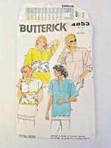 Butterick Vintage 4853 Pattern Misses Casual Tops L - XL 16 18 20 22 UNCUT 1987  - $7.92