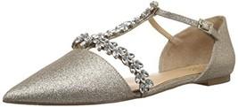 Jewel Badgley Mischka Women's MAURY Shoe, gold glitter, M095 M US - $110.87