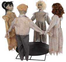 HALLOWEEN LIFE SIZE ANIMATED RING AROUND THE ROSIE PROP HAUNTED HOUSE - $179.99