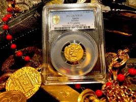 "SPAIN 2 ESCUDOS 1598-1621 ""ATOCHA ERA PIRATE GOLD COINS TREASURE PENDANT... - $1,850.00"