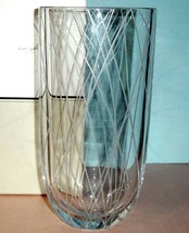 "Kate Spade Kip's Cross Vase 9.75"" Etched Geometric Design by Lenox New I... - $114.90"